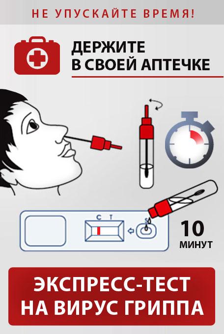 Экспресс-тест на грипп А и Б
